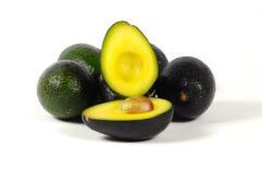 Zentrale Ansicht einer halben Avocado Lizenzfreies Stockbild