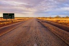 Zentrale australische Landstraße Lizenzfreies Stockfoto
