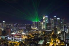 Zentrale Geschäftsgebiet-Skyline Singapurs lizenzfreies stockfoto