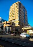 Zentrale Geschäftsgebietgebäude und -straßen Johannesburgs Stockfoto