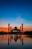 Zentrale Moschee von Songkhla Stockbilder