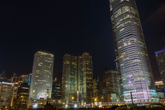 Zentrale Nacht Stockfotografie