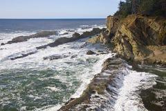Zentrale Oregon-Küstenlinie stockfotos