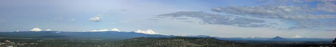 Zentrale Oregon-Kaskaden vom Piloten  Butte stockbild