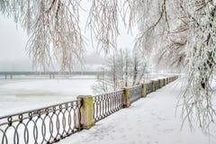 Zentrale Promenadenstadt Wyborg Russland Stockfotos