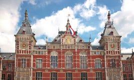 Zentrale Station in Amsterdam Stockbild