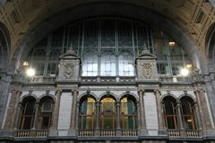 Zentrale Station in Antwerpen, stationieren Innenraum Stockbild