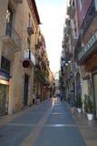 Zentrale Straße Tarragonas am 20. Juni 2016 in Tarragona, Spanien Lizenzfreie Stockbilder