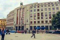Zentrale Tschechen National Bank und Reserve, banka Ceska Narodni ist ein allgemeines Finanzinstitut lizenzfreie stockbilder