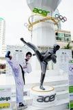 Zentrale Welt, Acerolympics-Grenzstein Lizenzfreie Stockbilder