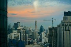 Zentrale Welt (CTW) das berühmte der Einkaufszentren Stadtzentrum herein von Bangkok Stockbilder