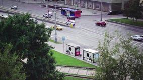 Zentraler Auslesebereich von Moskau und von Straße stock footage