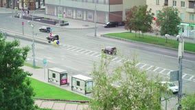 Zentraler Auslesebereich von Moskau und von Straße stock video