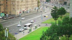 Zentraler Auslesebereich von Moskau und von Straße stock video footage
