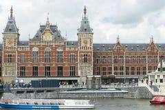 Zentraler Bahnhof in Amsterdam lizenzfreies stockfoto