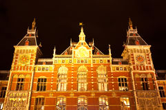 Zentraler Bahnhof Amsterdams stockfotos