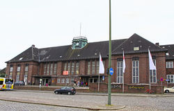 Zentraler Bahnhof in Flensburg, Deutschland Stockfotografie
