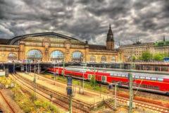 Zentraler Bahnhof Hamburgs Stockfotos