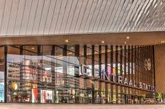 Zentraler Bahnhof Rotterdams, Außenfassade stockfotos