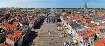 Zentraler Bereich von Delft Stockfotos