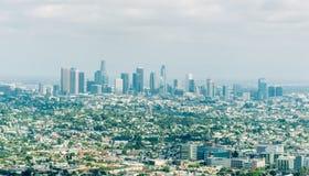 Zentraler Bezirk von Los Angeles, Kalifornien, USA Eine Abbildung auf einem Thema der Architektur Lizenzfreie Stockbilder