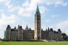 Zentraler Block des Parlaments Lizenzfreies Stockbild