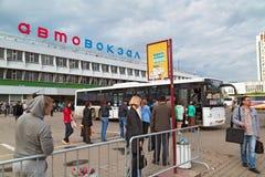 Zentraler Busbahnhof Moskau, Russland lizenzfreie stockfotografie