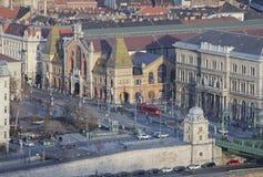 "Zentraler Markt Hall in Budapest-†""am 23. Februar 2019 lizenzfreie stockfotos"
