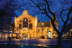 Zentraler Markt Hall in Budapest stockfotos