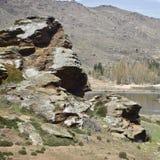 Zentraler Otago Rocky Hills im Sommer stockfotos