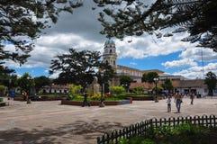 Zentraler Platz in Chia, Kolumbien Stockbild