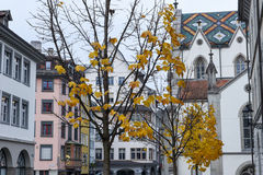 Zentraler Platz an der alten Stadt von St Gallen Stockbilder
