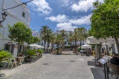 Zentraler Platz der Stadt von Vejer De-La Frontera und sein splen stockfotos