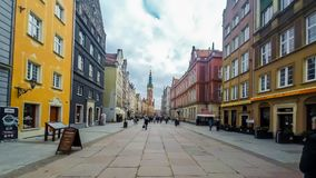 Zentraler Platz, Gdansk stock video footage