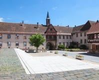 Zentraler Platz in Rosheim, Elsass, Frankreich Lizenzfreie Stockfotos