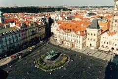 Zentraler Platz von altem Prag Stockfotos