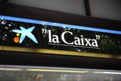 Zentraler Zweig von La Caixa Querneigung in Palma Lizenzfreie Stockbilder