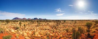 Zentrales Australien-Panorama Lizenzfreie Stockbilder