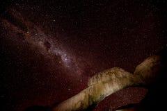 Zentrales Band der Milchstraße stockbilder