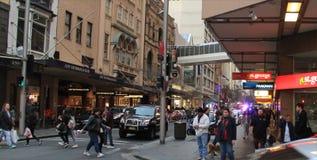 Zentrales beschäftigtes Leben Sydneys Stockbild