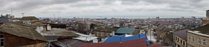 Zentrales Derbent-Panorama stockbild