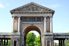 Zentrales Gebäude des Forums Boarium in Prato-della Valle in Padua im Venetien (Italien) Stockbild