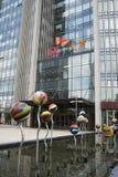 Zentrales Geschäftsgebiet Asiens Peking, China, moderne Architektur, viel-berühmte Gebäude der Stadt Lizenzfreie Stockbilder