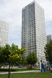 Zentrales Geschäftsgebiet Asiens Peking, China, moderne Architektur, viel-berühmte Gebäude der Stadt Stockfoto