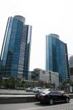 Zentrales Geschäftsgebiet Asiens Peking, China, moderne Architektur, viel-berühmte Gebäude der Stadt Lizenzfreie Stockfotografie
