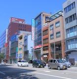 Zentrales Geschäftsgebiet in Kanazawa Japan Stockbilder