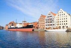 Zentrales Seemuseum in Gdansk in Motlawa-Fluss Stockbilder
