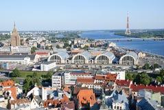 Zentrales Teil von Riga Lizenzfreies Stockfoto