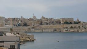 Zentrales Teil von Valletta - Hauptstadt von Malta - Zeitspanne stock video footage