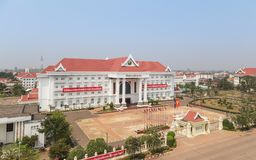 Zentralregierungsbürogebäude Laos-Leute ` s demokratischer Republik PDR in Vientiane, Laos Stockbild